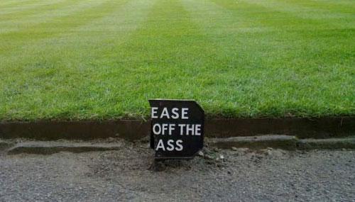 Broken Please Keep Off The Grass Sign
