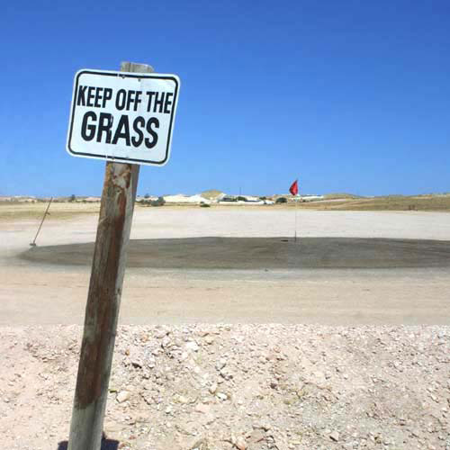 Funny Golf Course Keep Off Grass Sign