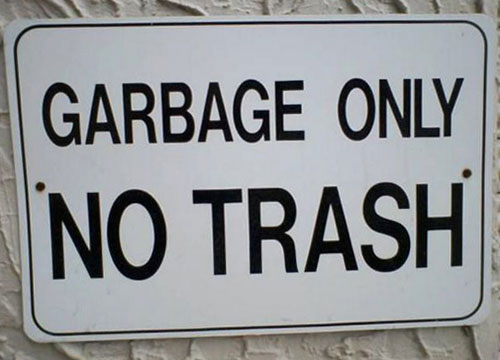 Garbage Only | No Trash Sign