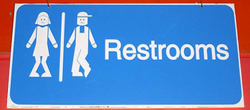 Aruba Restroom Sign