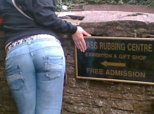 Funny Rubbing Centre Sign