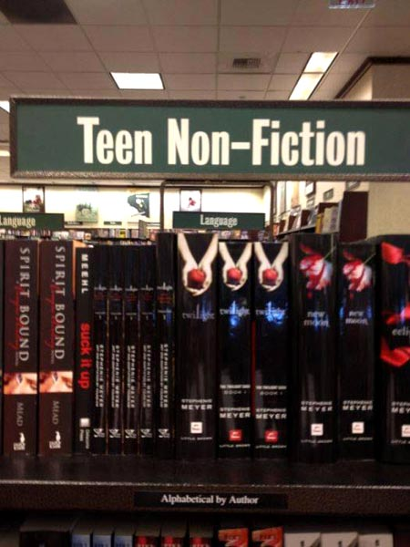Twilight Novels In Nonfiction Section