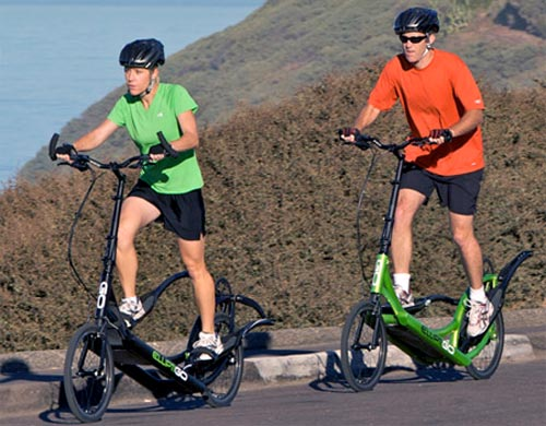 Elliptical Bike In Motion