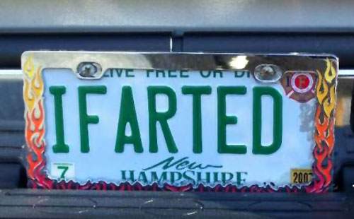 I Farted Vanity Plate