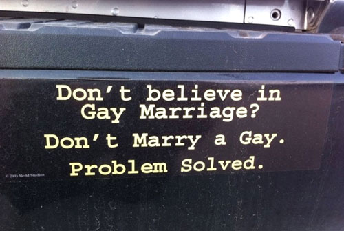 Dont Believe In Gay Marriage, Dont Marry A Gay