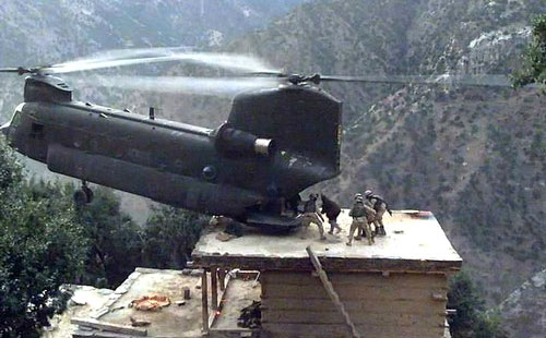 Military Helicopter Evacuation Maneuver