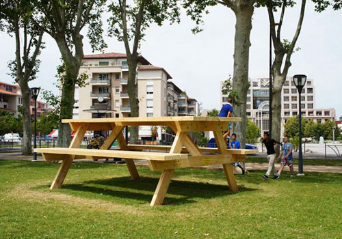 Giant Picnic Table In France
