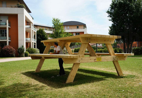 Picnic Table Art Installation