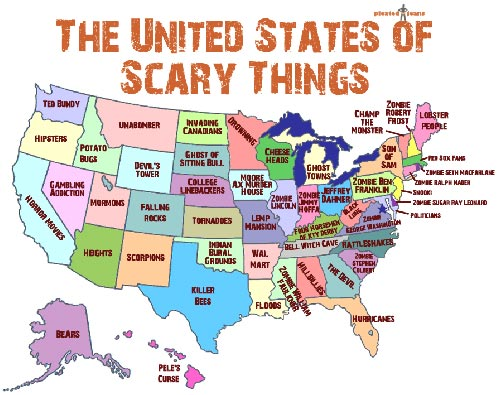 United States of Scary Map
