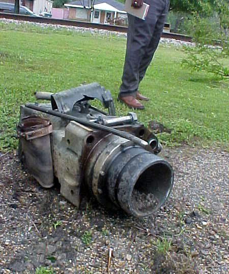 Ejected Locomotive Train Cylinder