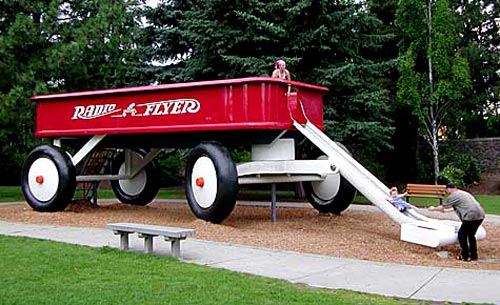 Giant Radio Flyer Wagon Slide
