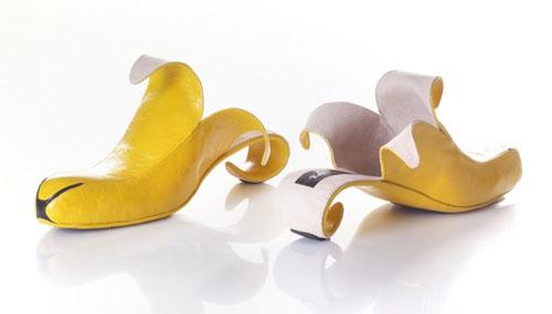 Leather Banana Peel Shoes 187 Funny Bizarre Amazing