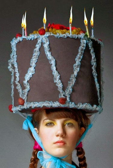 Birthday Cake Hat Funny Bizarre Amazing Pictures Videos
